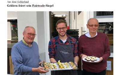 "RP-Artikel: ""Geldern feiert sein Fairtrade-Siegel"""
