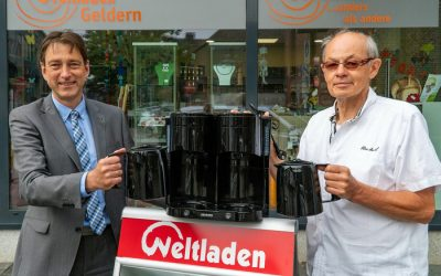 Voba als Unterstützer unserer Kampagne spendet Kaffeemaschine